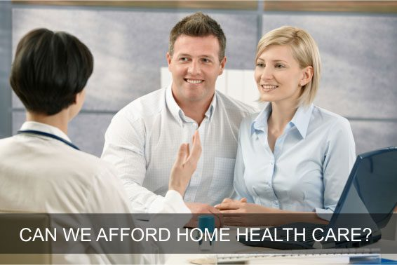 Husband and wife consulting on home health care